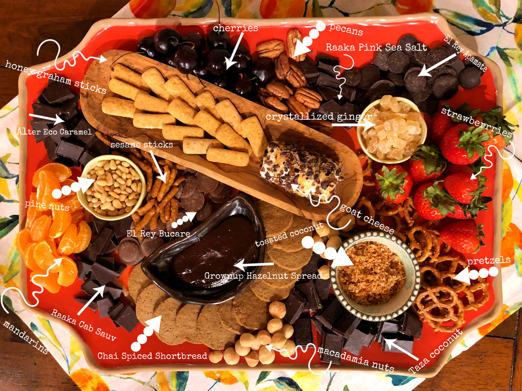 Chocolate Board - ​Filled with different chocolate varieties and parings, this board makes an impressive and easy dessert.