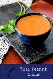 Thai Peanut Sauce made with coconut milk, curry paste & spices