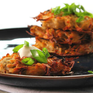Oven-Baked Hash Brown Cakes: easy simple side, brunch, breakfast