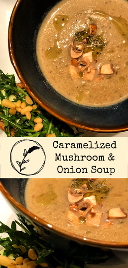 Creamy, filled with Caramelized mushrooms and onions, this soup smells and tastes decadent.